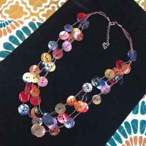 """Jewelry - Shell button necklace 23"""" long, can shorten 3"""""""